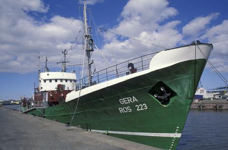 Die FMS 'GERA' am Liegeplatz im Bremerhavener Fischereihafen