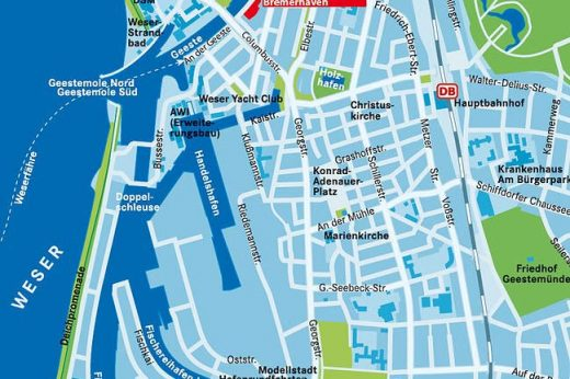City map of Bremerhaven