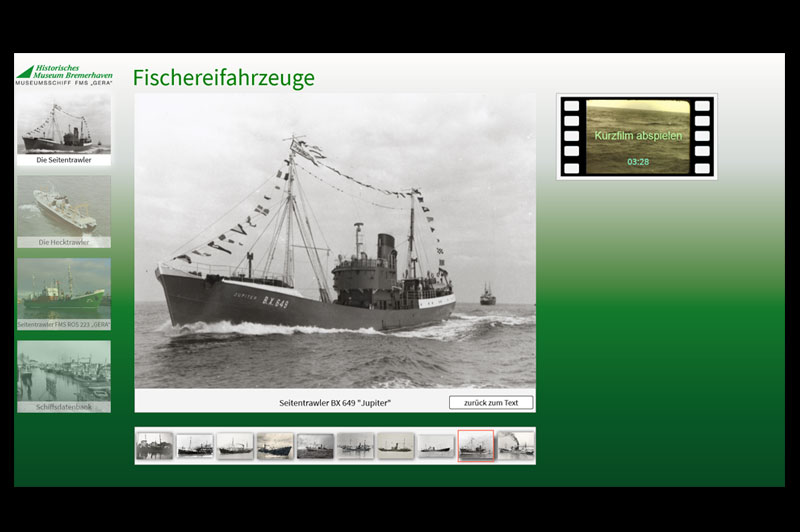 Historisches Museum Bremerhaven Database fishing vessels